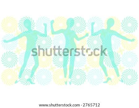 Funky Dancers 4 - stock photo