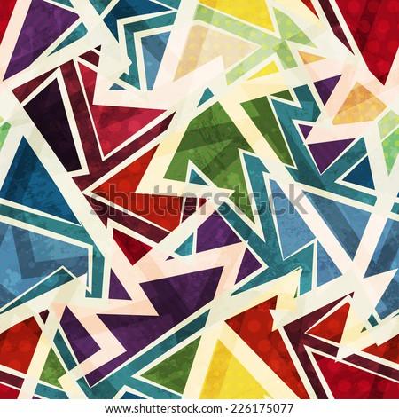 funky geometric seamless pattern (raster version) - stock photo