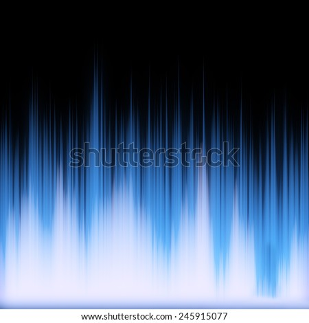 Funky neon glowing audio waveform or graphic equalizer with electric plasma - stock photo