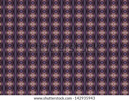 Funky pink, purple and peach abstract bow tie stripes on black background (tile able) - stock photo