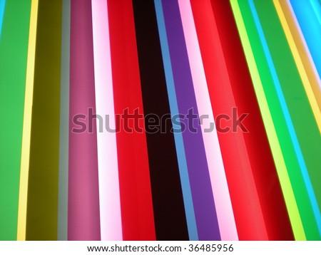Funky rainbow striped pattern background - stylish bright colors - stock photo