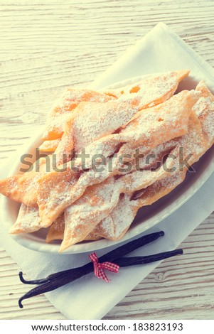 Funnel cake - vintage style - stock photo