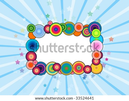 Funny Abstract Frame - stock photo