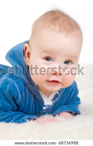 funny baby portrait - stock photo