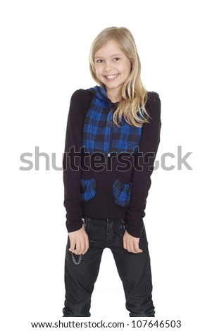 Funny female showed herself in the photos in all her glory - stock photo