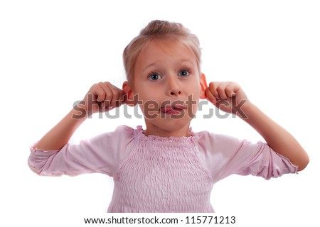 Funny girl - stock photo