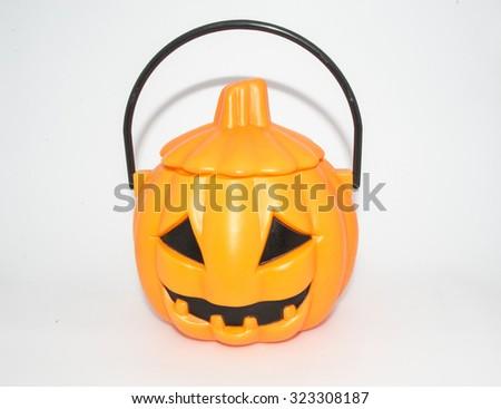 Funny Halloween pumpkin   - stock photo