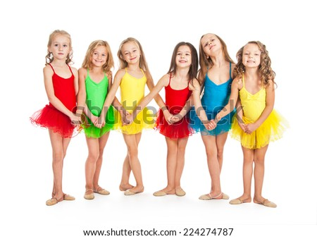 Funny little ballet dancers - stock photo