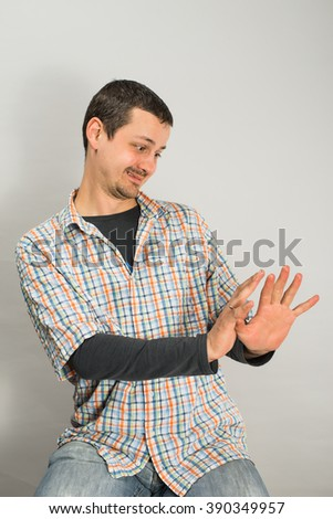 funny  man - stock photo