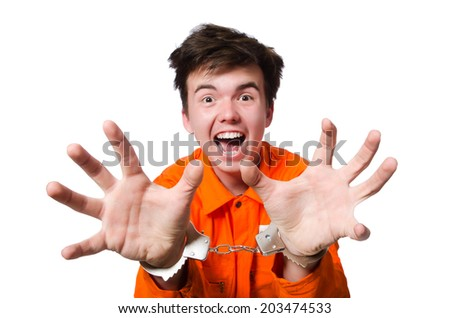 Funny prison inmate in concept - stock photo