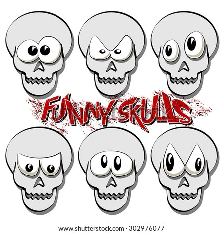 Funny Skulls - stock photo