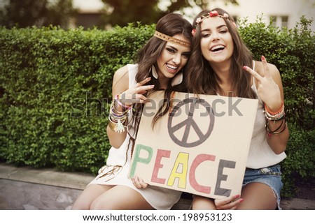 Funny time with the best friend  - stock photo