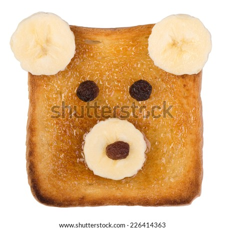 Funny toast for kids - stock photo