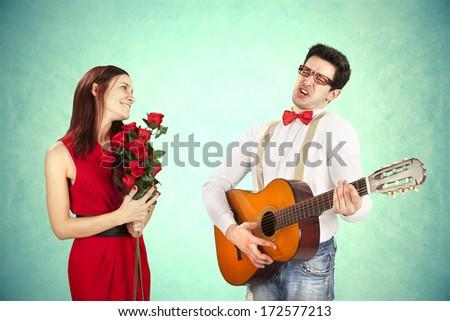 Funny Valentine's Day - stock photo