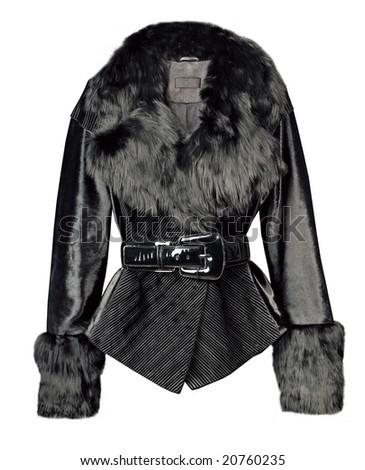 fur coat jacket - stock photo