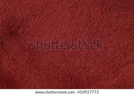 Fur sheepskin red (mutton). Texture, background - stock photo