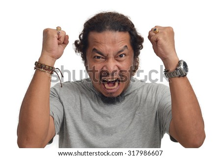Furious man, yelling - stock photo