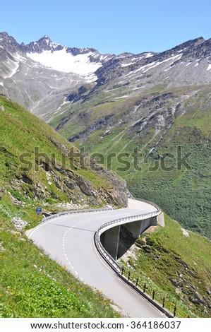 Furka pass, Switzerland - stock photo