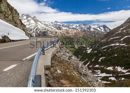 Furkapass, Switzerland - stock photo