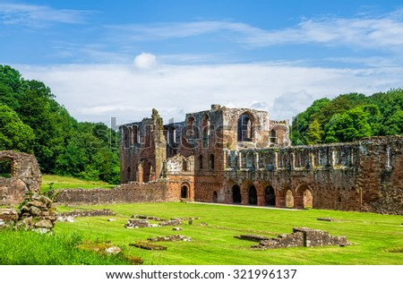 Furness Abbey in Barrow-in-Furness, England - stock photo