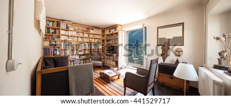 Furnished house vintage, interior - stock photo