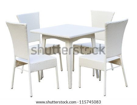 furniture interior by bamboo wood - stock photo