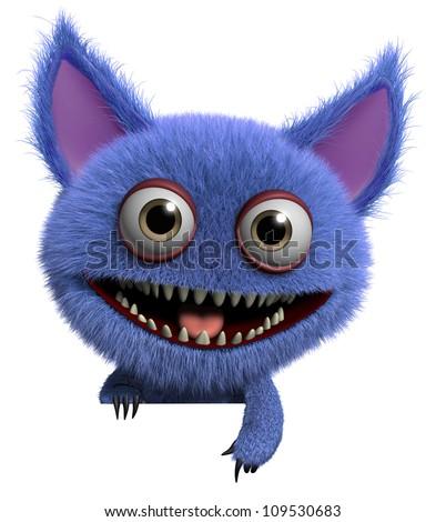 furry monster - stock photo