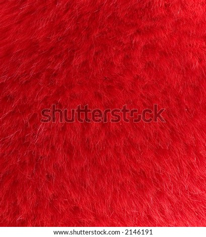 furry red background - stock photo