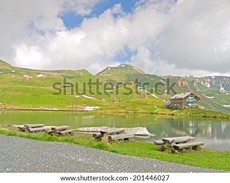 FUSCH AN DER GROSSGLOCKNERSTRASSE, AUSTRIA - 27 June 2014: The museum of the building of the Grossglockner High Alpine Road shows the living conditions of the workers who built the road. - stock photo