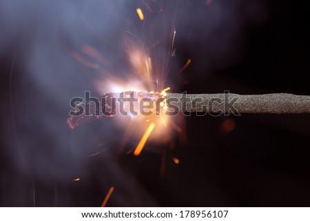 Fuse is burning   - stock photo