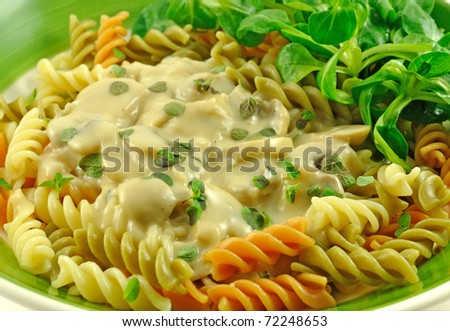 Fusilli pasta - stock photo