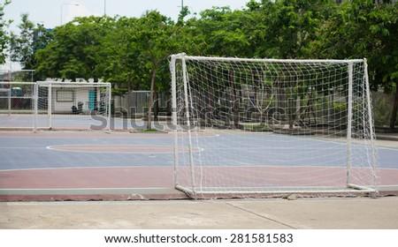 Futsal field. - stock photo