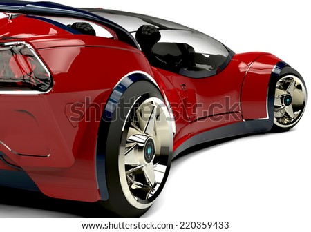 future car close up rear view - stock photo