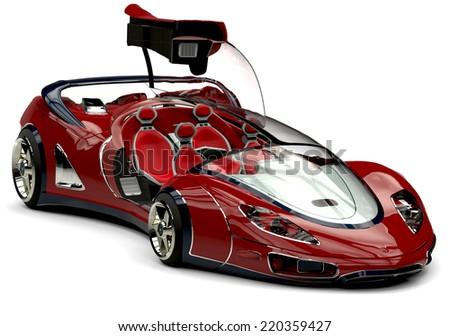 future car open door - stock photo