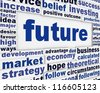 Future concept message background. Forecasting poster design - stock photo