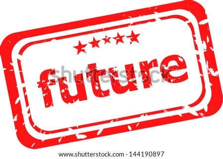 future red rubber stamp over a white background, raster - stock photo