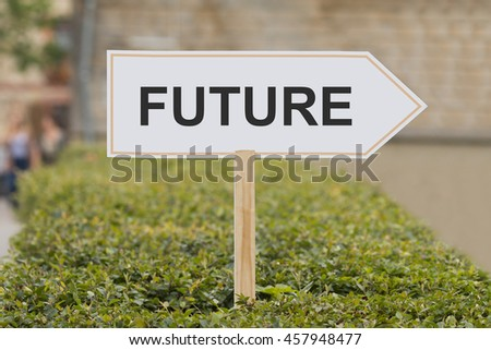 future signpost - stock photo
