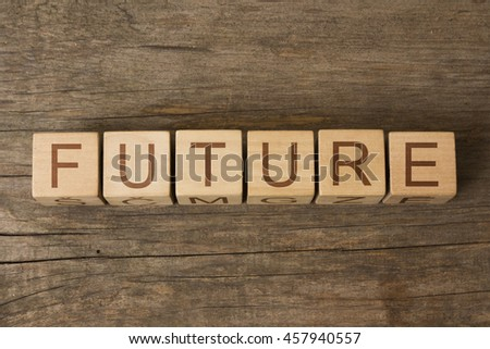future text on wooden cubes - stock photo