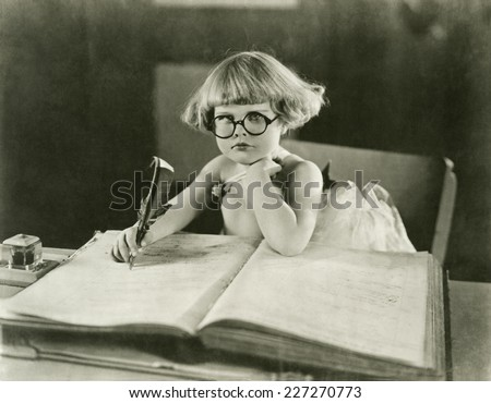 Future writer - stock photo