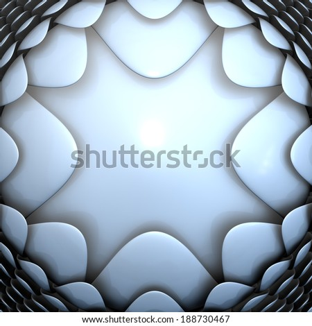 Futuristic background 3d illustration - stock photo