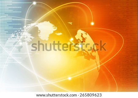 Futuristic background of Global business network, internet, Globalization concept	 - stock photo