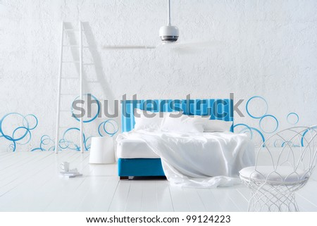 futuristic bedroom - stock photo