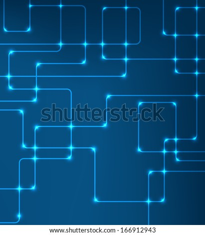 futuristic bitmap modern hi-tech glowing background illustration  - stock photo