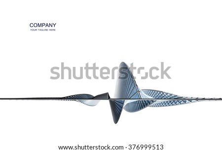 Futuristic building construction. Background for brochure or business card - stock photo