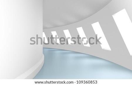 futuristic corridor - stock photo