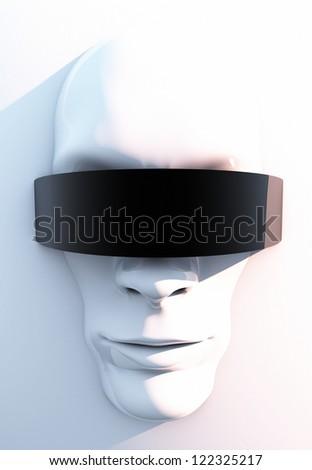 Futuristic Face - stock photo