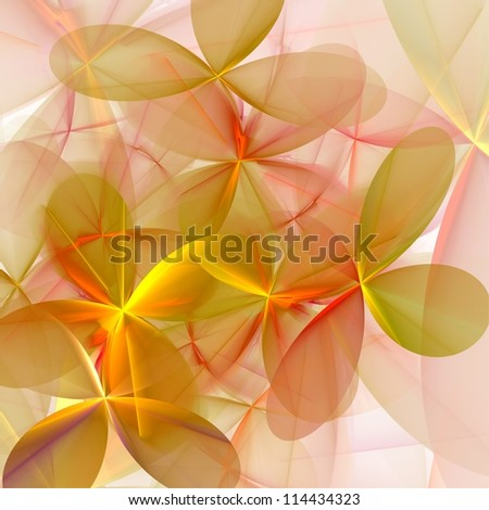 Futuristic flowers. Abstract background. - stock photo