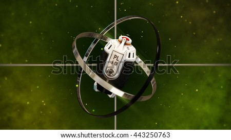 Futuristic Grenade with Sight Target. 3D Illustration. - stock photo