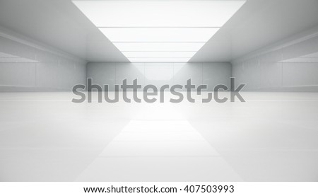 Futuristic interior view. Futuristic background. Abstract background, 3d Rendering. - stock photo