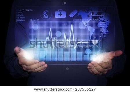 futuristic medicine - stock photo
